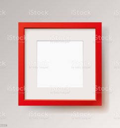 realistic empty red frame on gray background border for your creative project mock  [ 1024 x 1024 Pixel ]