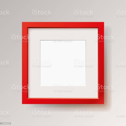 small resolution of realistic empty red frame on gray background border for your creative project mock