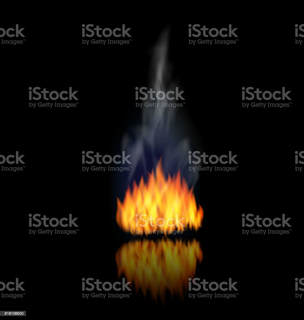 realistic fire flame with