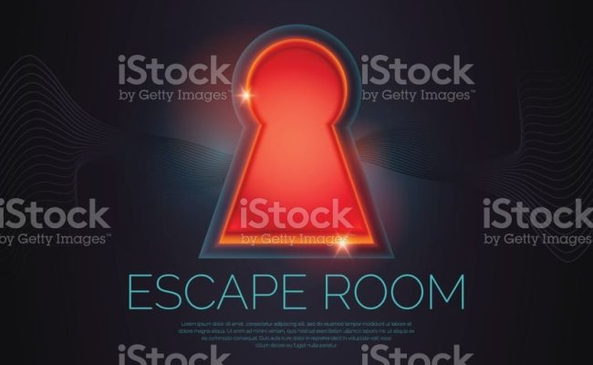 Reallife Room Escape And Quest Game Poster Stock