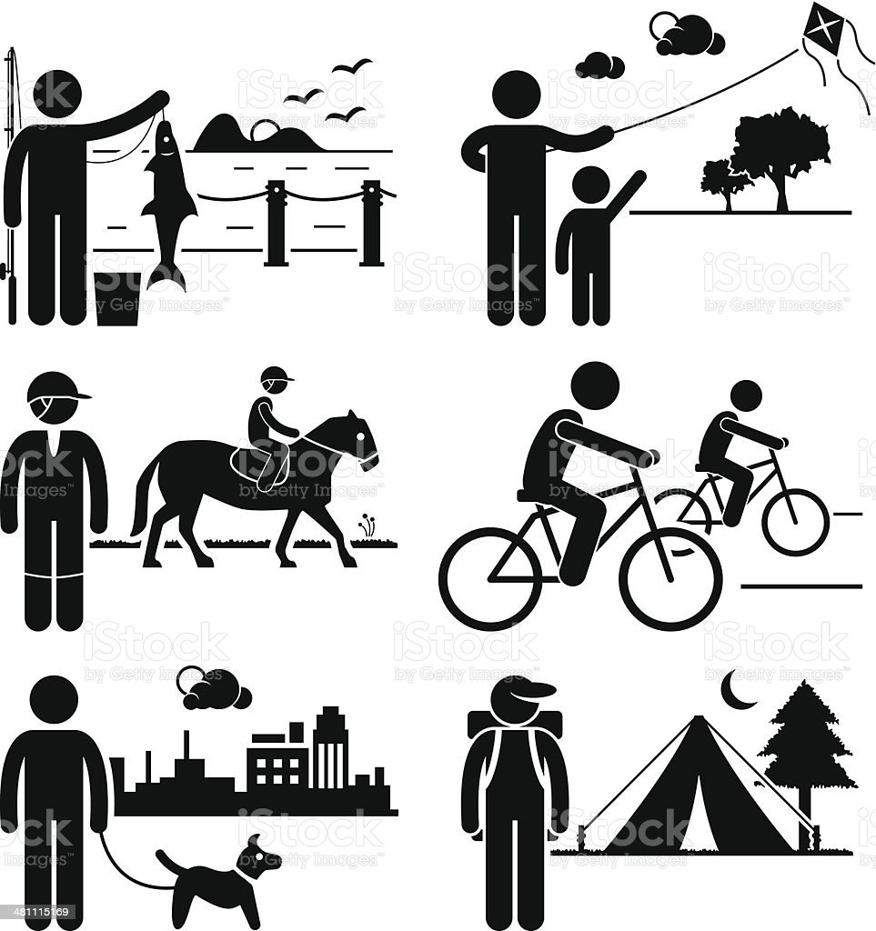 Recreational Outdoor Leisure Activities Clipart Stock