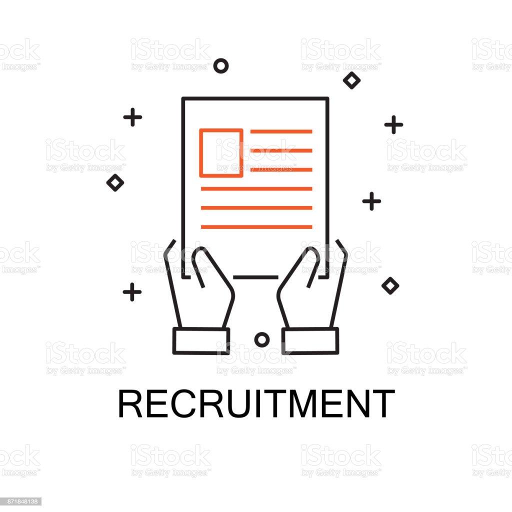 Recruitment Creative Idea Concept Moden Flat Thin Line