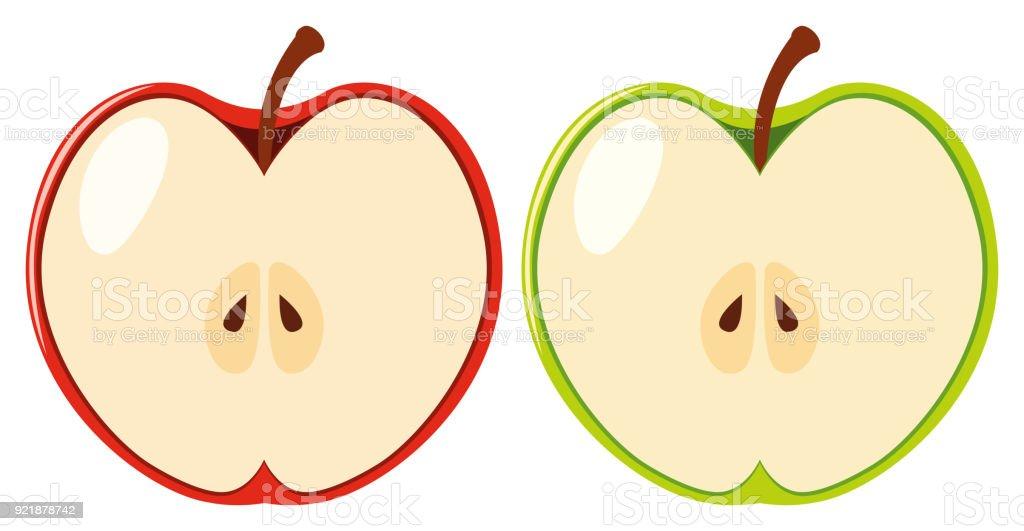 clip art of apple cut