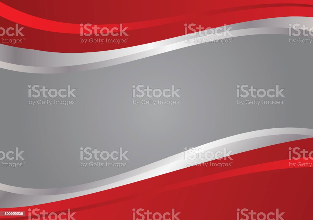 Red And Silver Wave Vector Background Stock Vector Art