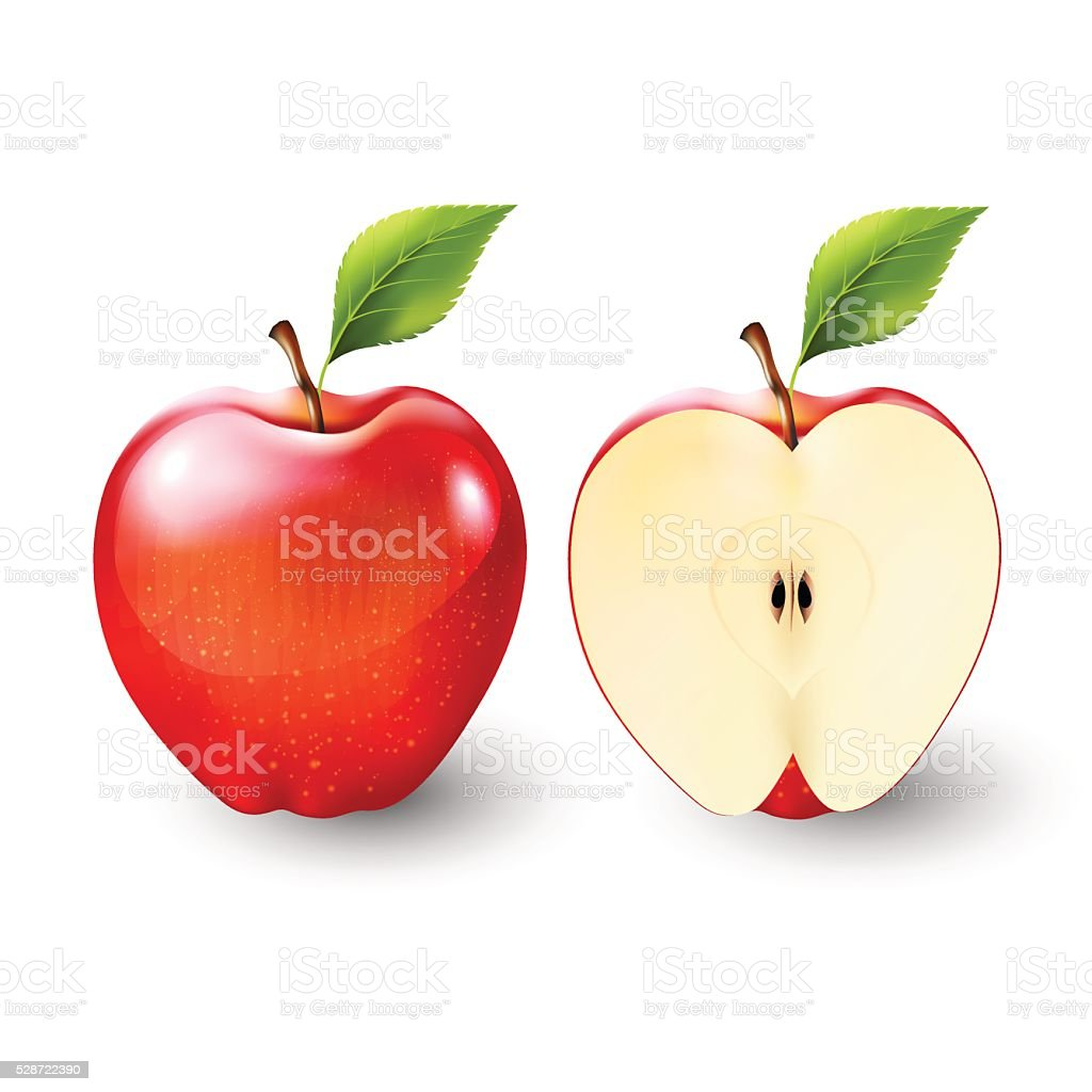 royalty free cut apple clip art