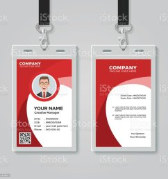 red corporate id card template illustration  [ 1024 x 1024 Pixel ]