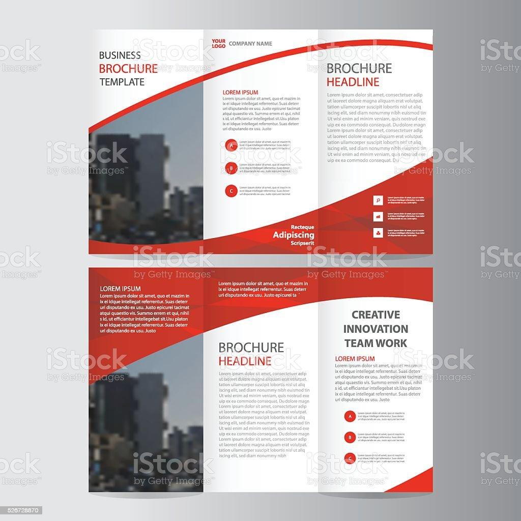 Red Elegance Business Trifold Business Leaflet Brochure