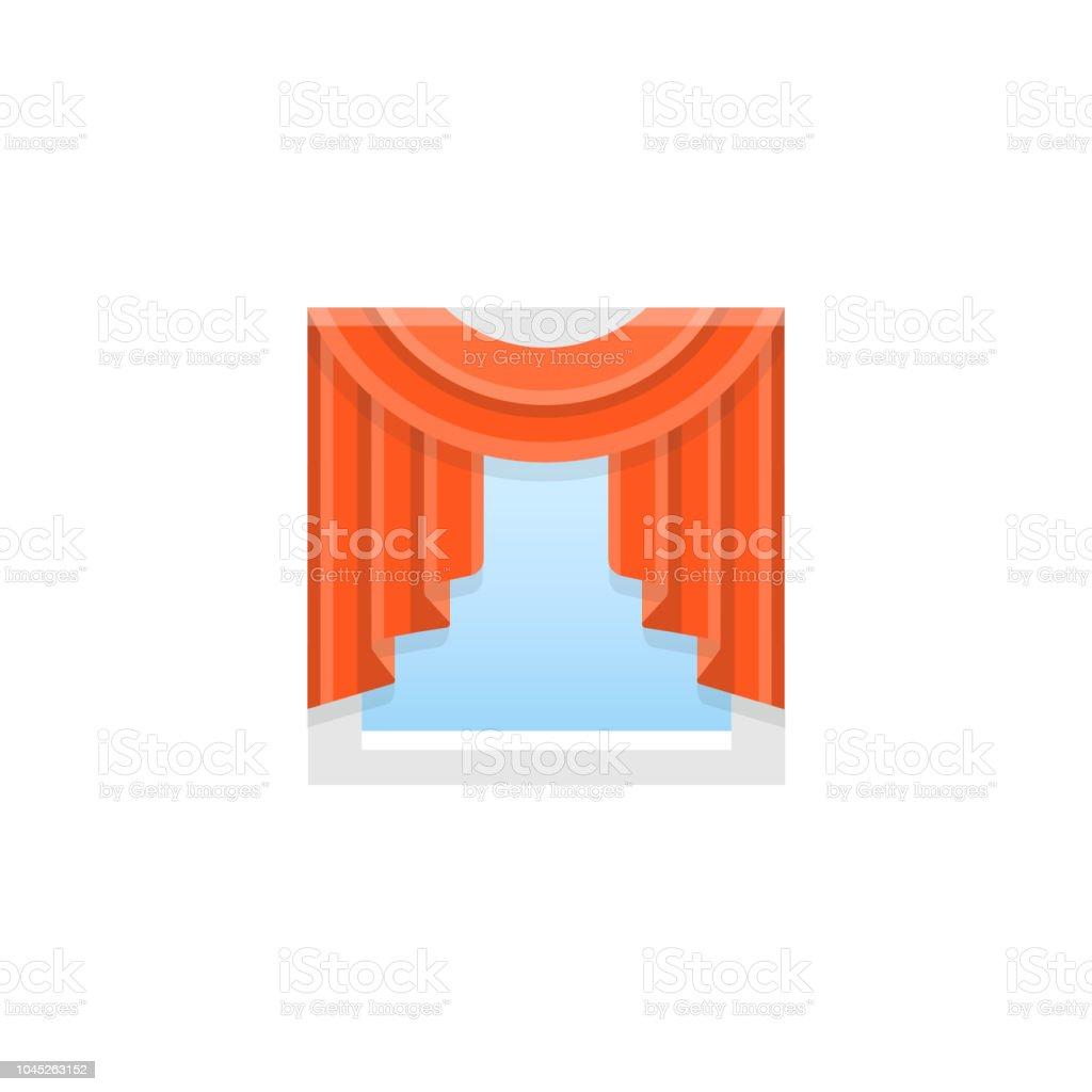 swag kitchen curtains natural maple cabinets 紅色織物窗簾中央贓物向量插圖平的陰影圖示向量插圖及更多一個物體圖片 紅色織物窗簾 中央贓物 向量插圖 平的陰影圖示