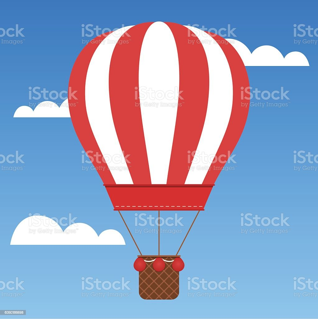 hot air balloon basket clip art