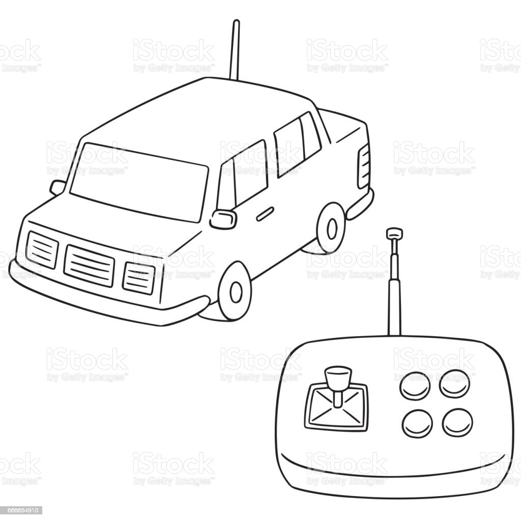 Remote Control Car Stock Vector Art & More Images of