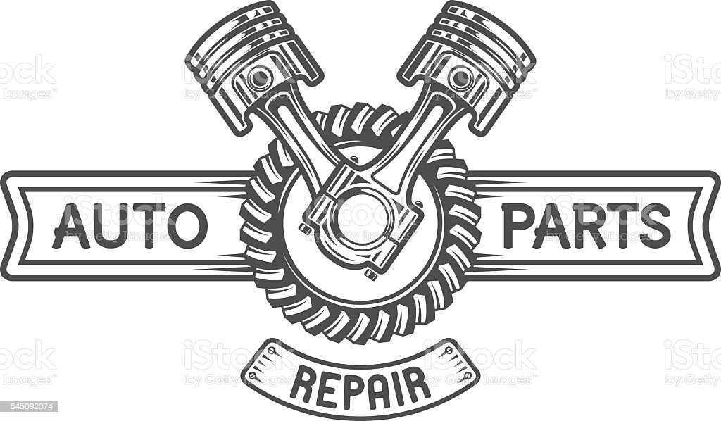 Repair Service Gear And Pistons Stock Vector Art & More