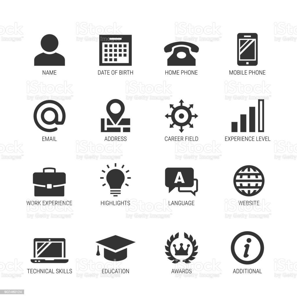 logo experience professionnel pour cv noir