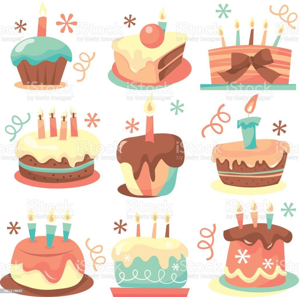 復古的生日蛋糕向量圖形及更多1980-1989圖片 - iStock