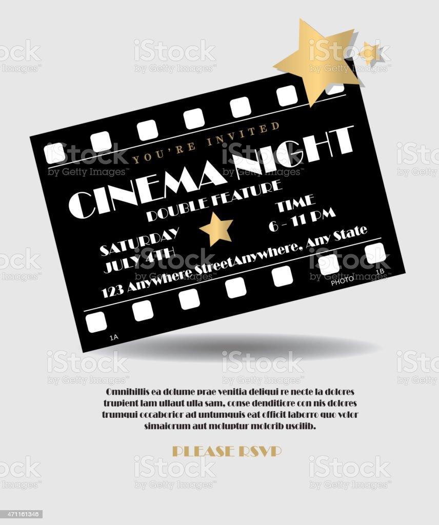 https www istockphoto com vector retro cinema movie film cell invitation design template gm471161346 63384891