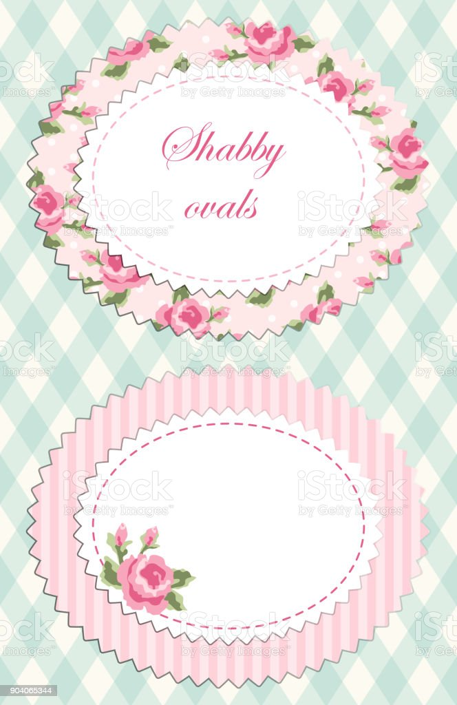 retro floral oval frame