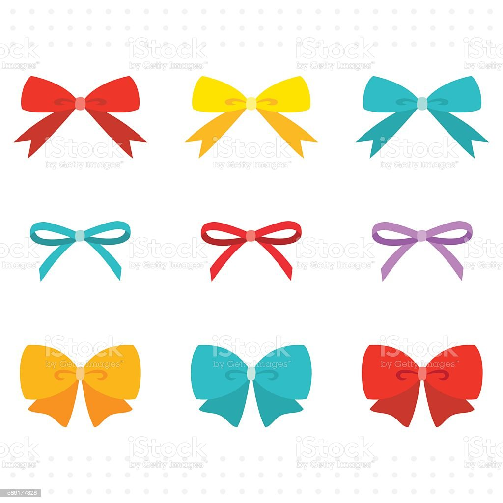 hair bow illustrations royalty-free