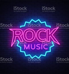 rock music vector neon rock music neon sign bright night sign light banner [ 1024 x 883 Pixel ]