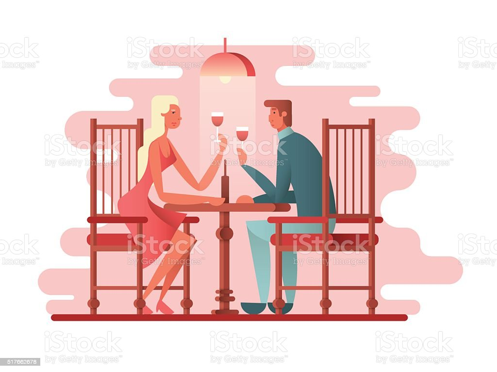 royalty free dinner date clip art
