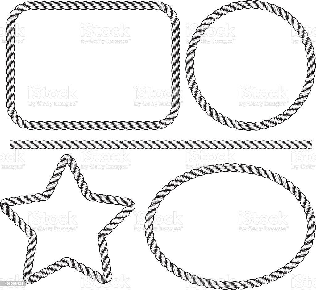 Moldura De Corda Download Vetor e Ilustração 468098428