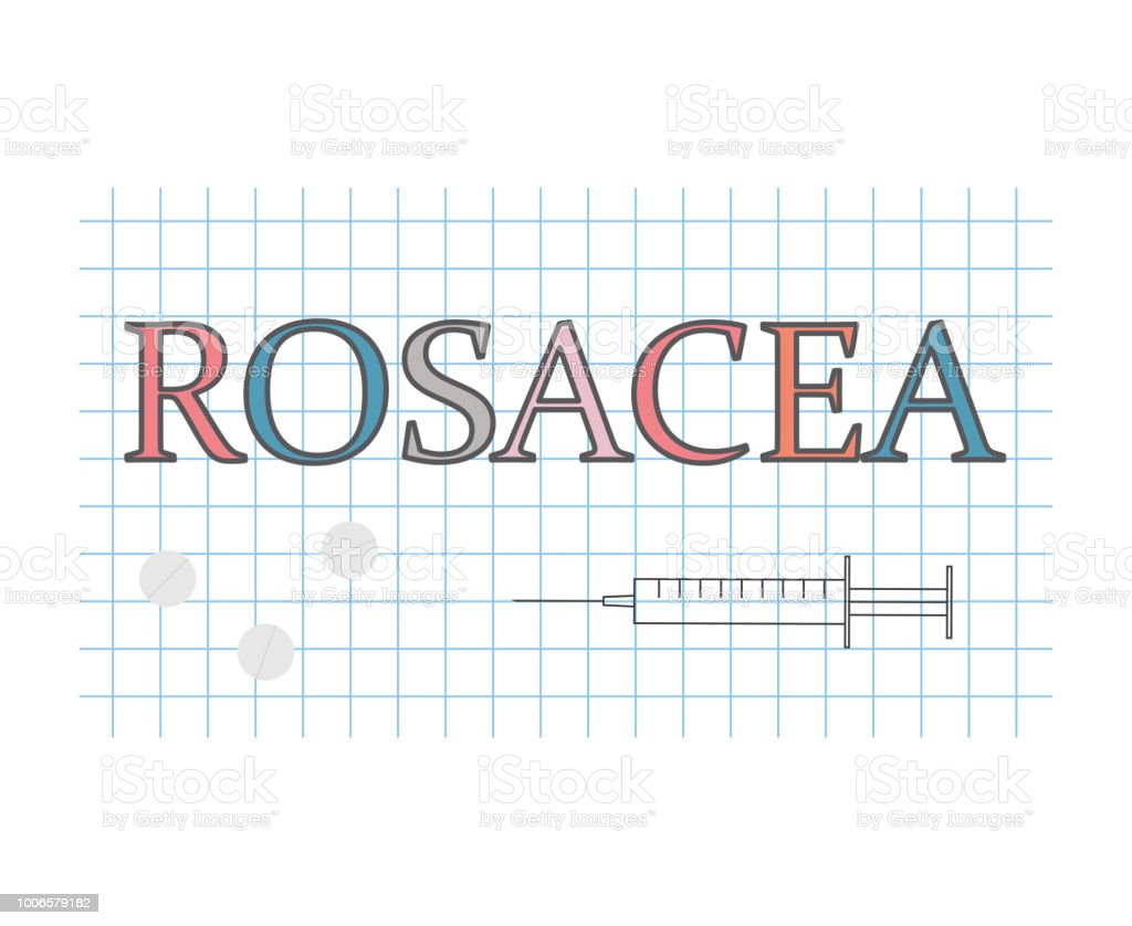 hight resolution of rosacea word on checkered paper sheet royalty free rosacea word on checkered paper sheet stock