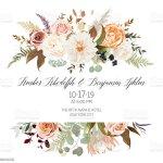 Rose Flowers Dahlia Ranunculus Pampas Grass Fern Stock Illustration Download Image Now Istock