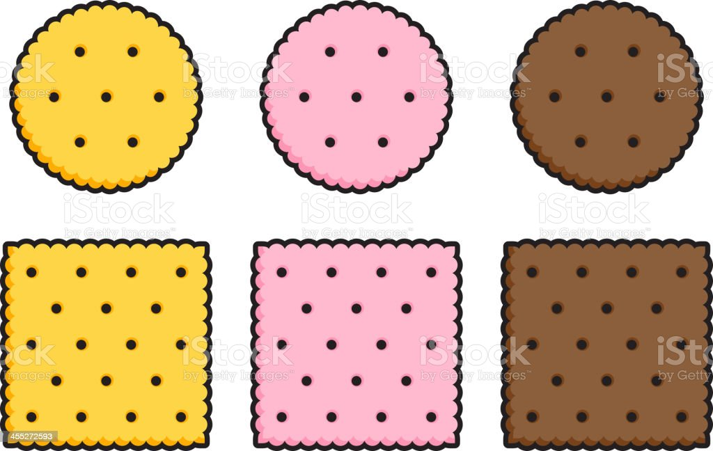 Round And Square Crackers Stock Vector Art  More Images