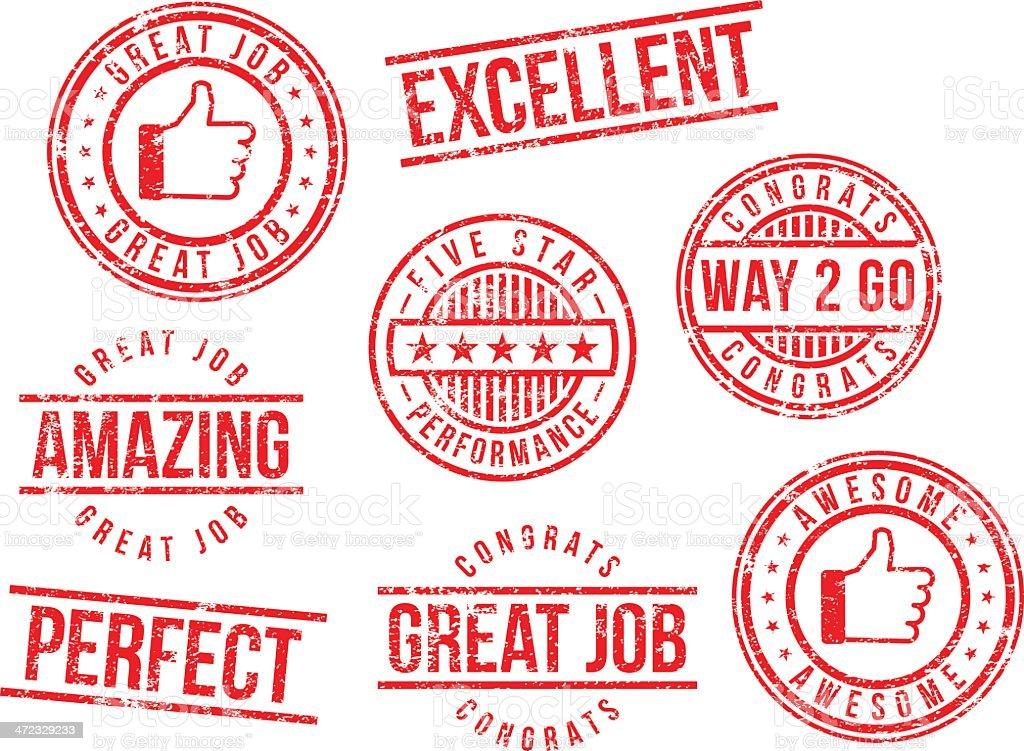 Rubber Stamps Great Job Stock Vector Art 472329233  Istock