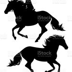 Running Horse And Rider Black Vector Silhouette Stock Illustration Download Image Now Istock