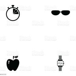 Running Icon Set Stock Illustration Download Image Now iStock