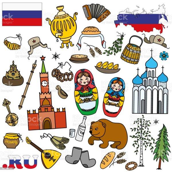 Russian Symbols Travel Russia Russian Traditions Stock