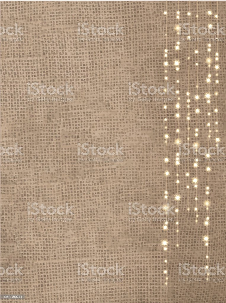 rustic burlap background with