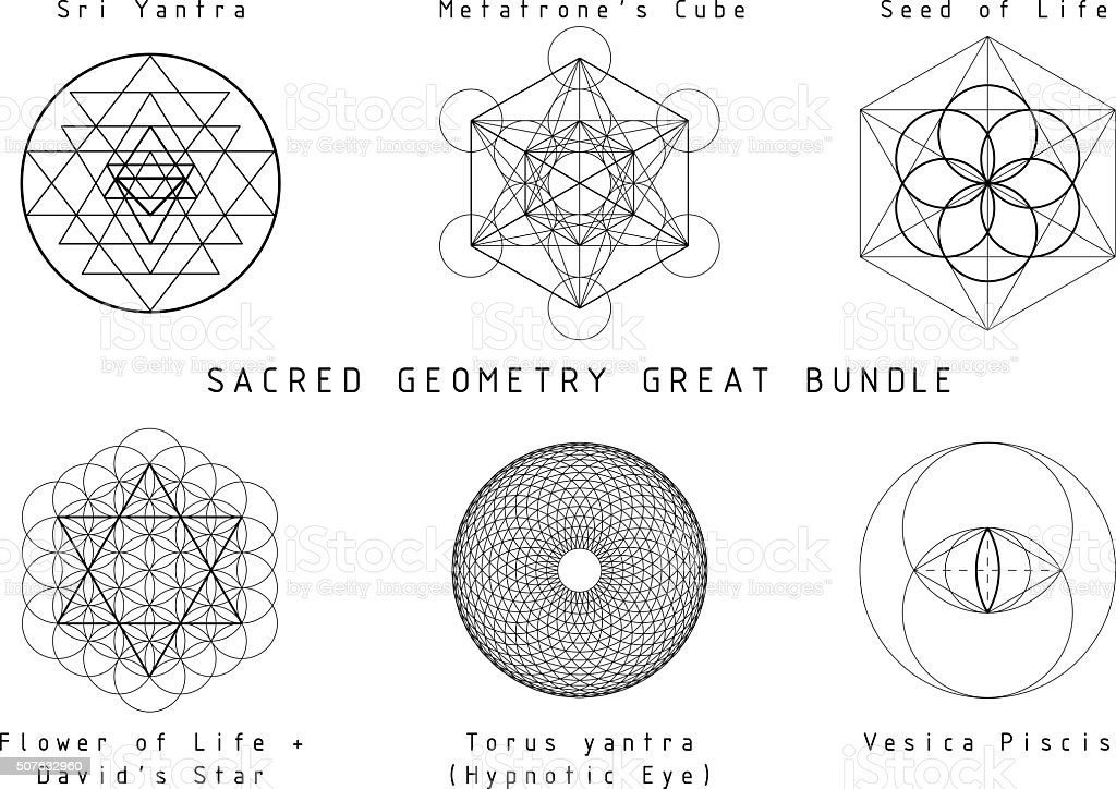 Sacred Geometry Set Stock Vector Art & More Images of
