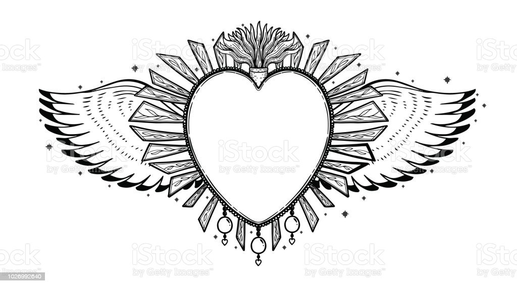 Sacred Holy Heart Jesus Sacrament Religion Symbol Mystical