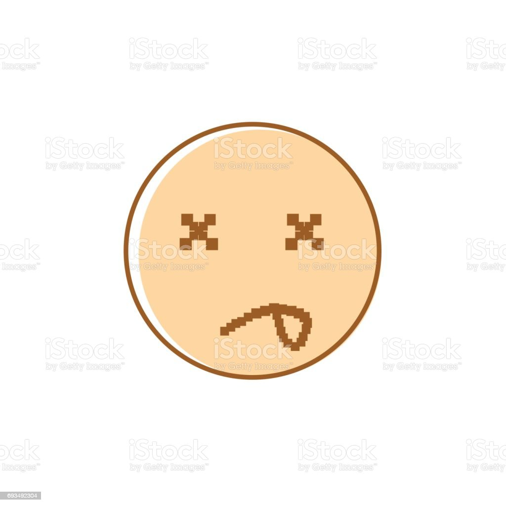 hight resolution of sad cartoon face negative people emotion icon illustration
