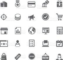 Retail Icon Set Stock Vector Art &