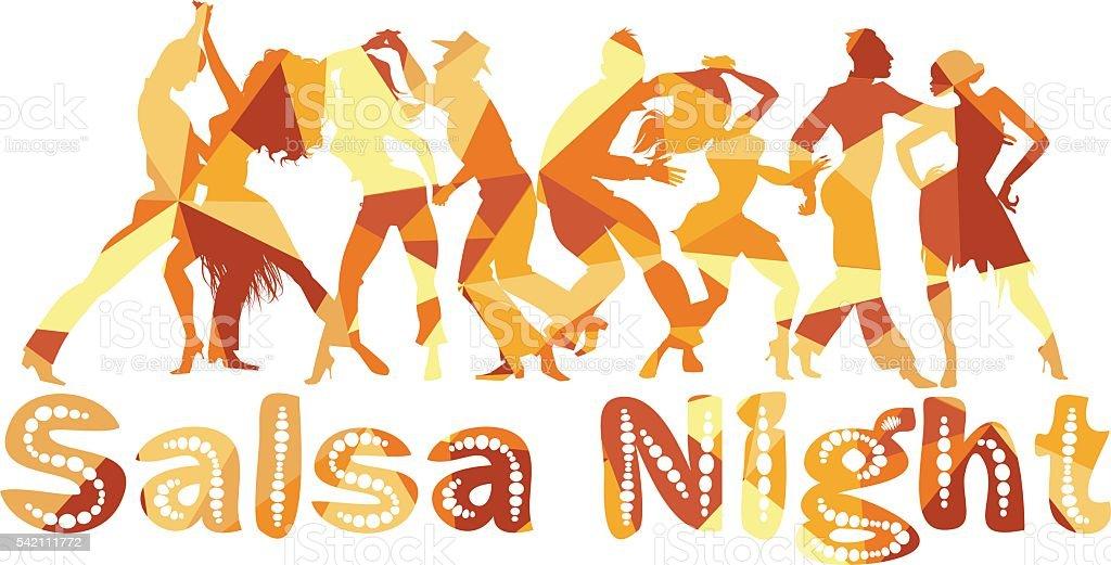 salsa dancing clip art vector