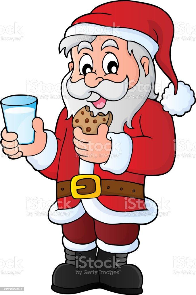 royalty free milk and cookies