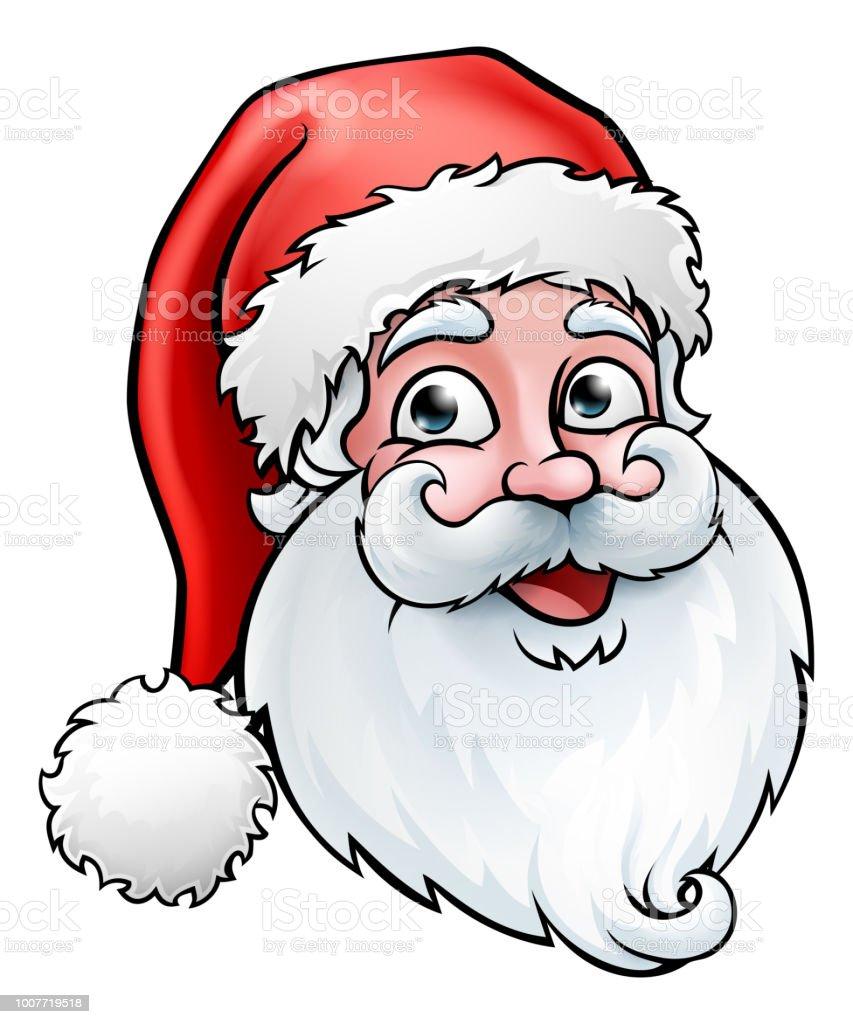 Cartoon Santa Face : cartoon, santa, Santa, Claus, Christmas, Cartoon, Stock, Illustration, Download, Image, IStock