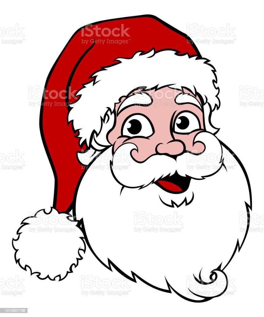 Cartoon Santa Face : cartoon, santa, 11,693, Santa, Illustrations, IStock