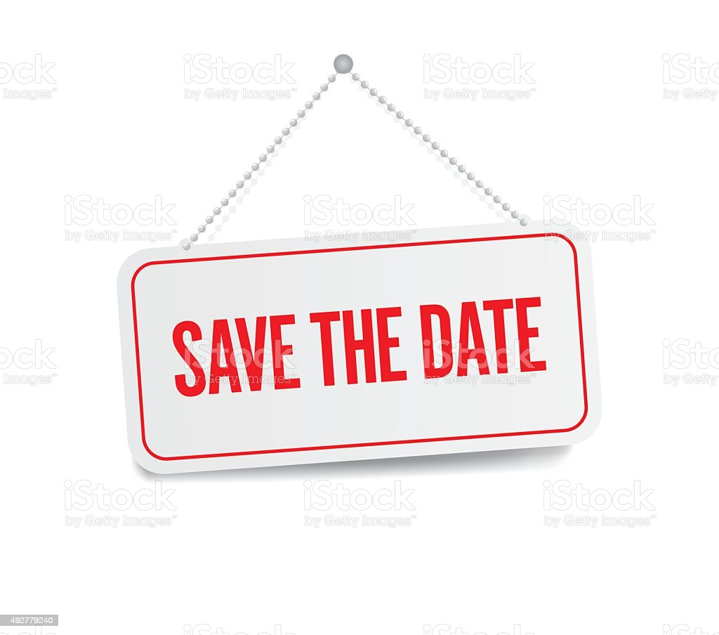 save date clip art vector