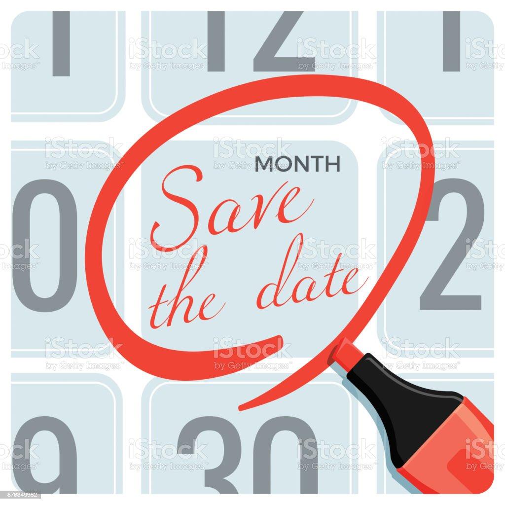 mark calendar clip