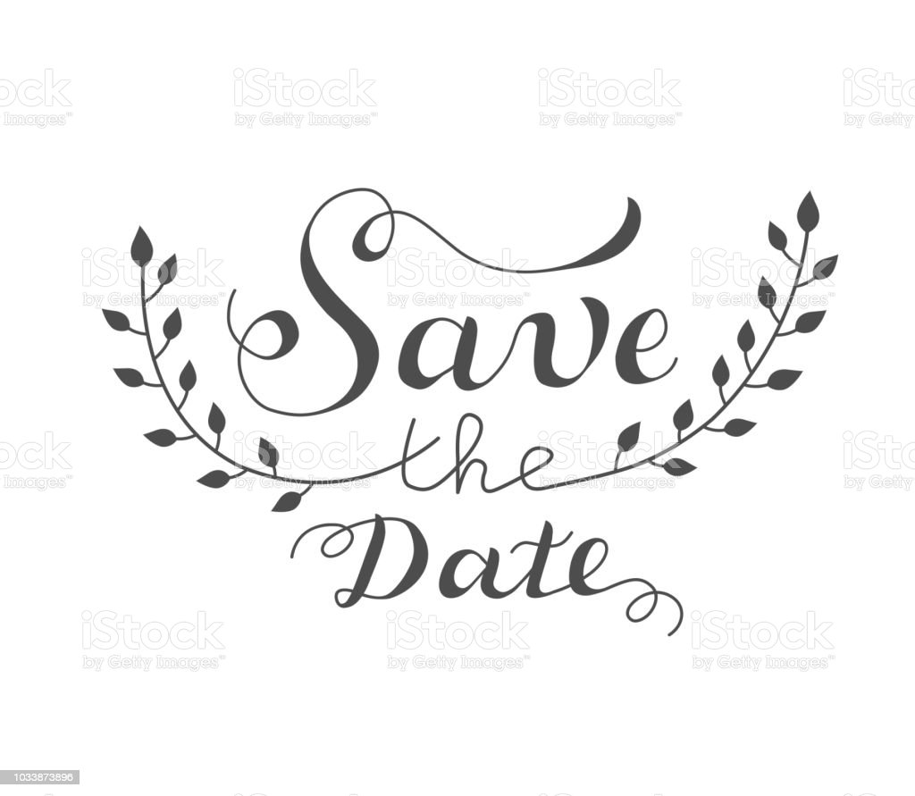 Save The Date Wedding Design Template With Ornate Elements