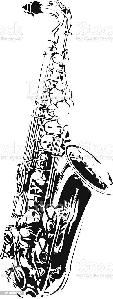 Saxophone Stock Vector Art & More Images of Alto Saxophone