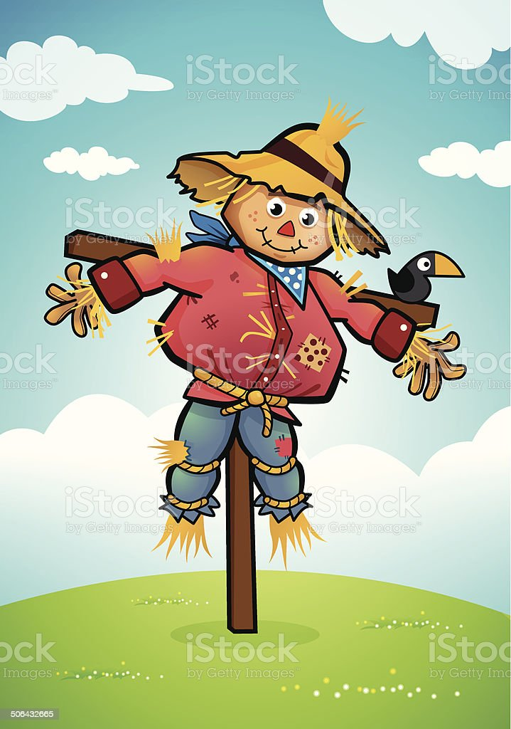scarecrow illustrations royalty-free