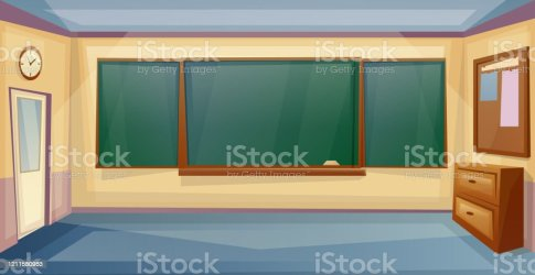 School Classroom Interior With Desk And Board Lesson Empty University Roomvector Cartoon Stock Illustration Download Image Now iStock