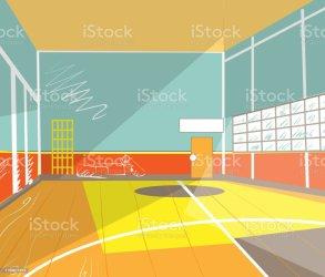 gym cartoon vector interior architecture