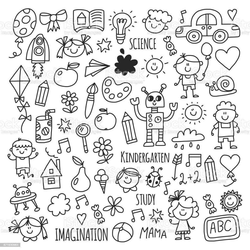School Kindergarten Happy Children Creativity Imagination