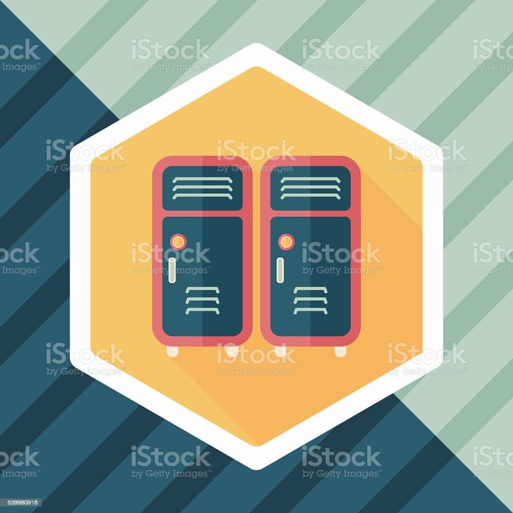 medium resolution of school lockers flat icon with long shadow eps10 illustration