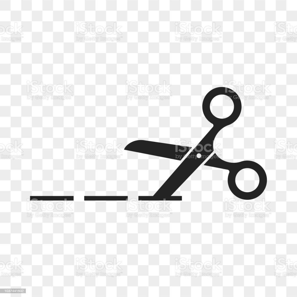 scissors cutting line vector