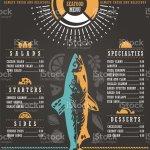 Seafood Restaurant Menu Design Stock Illustration Download Image Now Istock